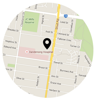 Map showing Chisholm at 121 Stud Road, Dandenong