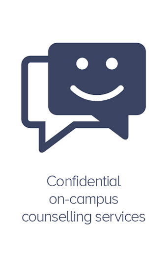 Confidential on-campus counselling services